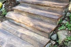 schody betonowe drewno