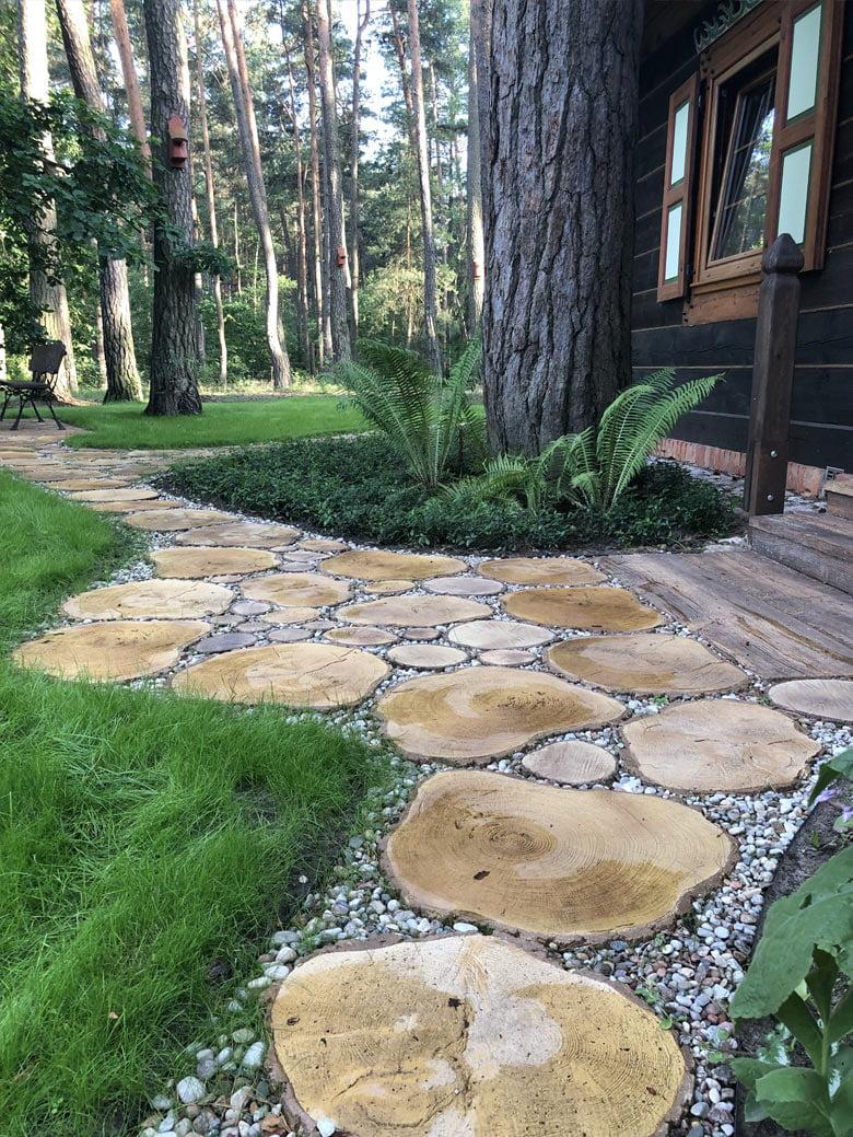 Betonowe Drewno Donice Ogrodowe Deski Tarasy ścieżki