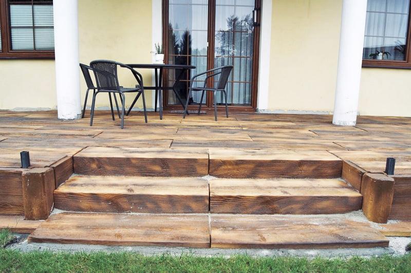 Deski tarasowe Betonowe drewno