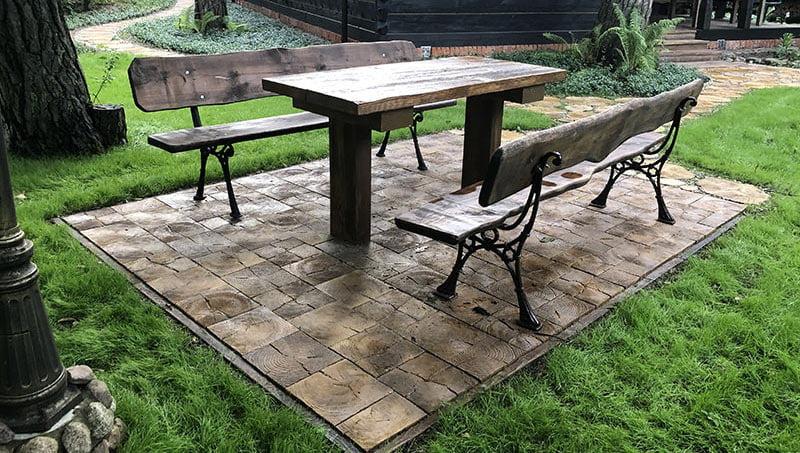Betonowe drewno Deski tarasowe